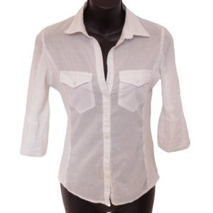 "*3 For $25"" Max Studio Stretch Cotton Shirt- Sz Sm"